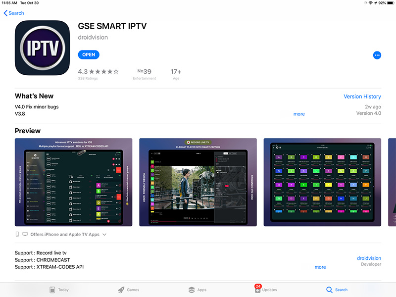 How to setup IPTV on iphone using GSE IPTV App?
