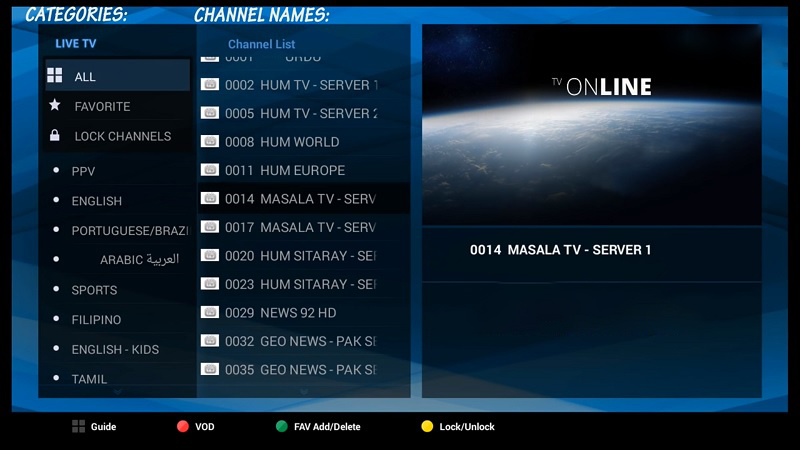 How to add IPTV channels to AVOV