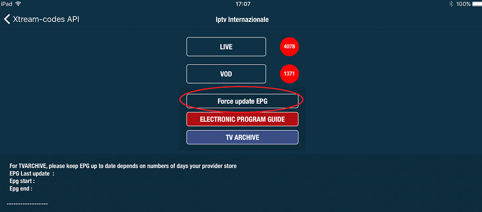 How to add IPTV channels to GSE app on iOS